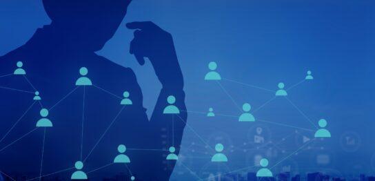 ビジネスマンと人の繋がり